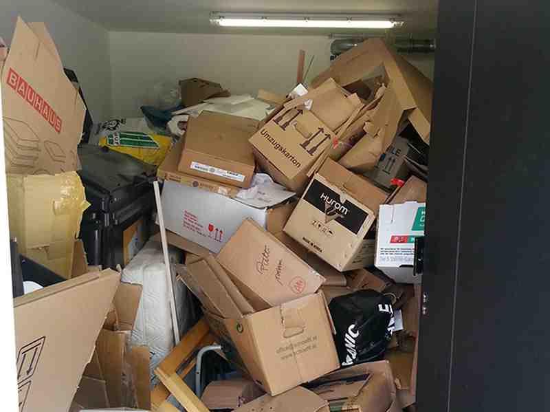 Müllraum vorher